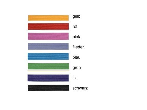 Gummibandfarben