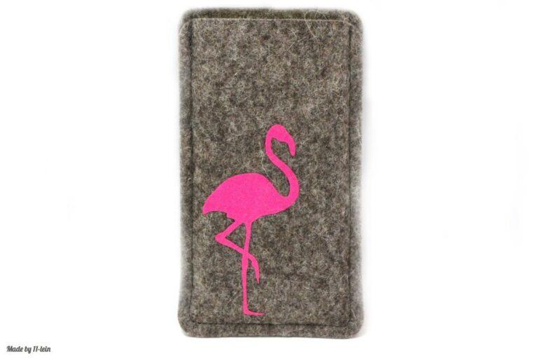 Handytasche Filz Flamingo