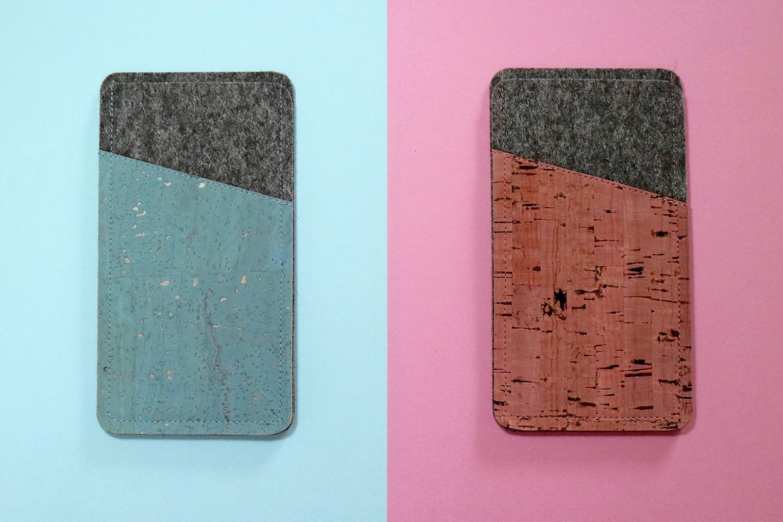 Handyhüllen aus Kork in den Trendfarben 2016