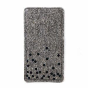 Handyhülle aus Filz mit schwarzen Punkten, Maßanfertigung