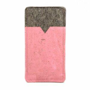Handytasche rosa Kork