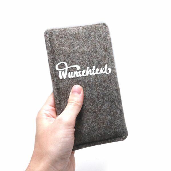 Handytasche aus Filz mit Wunschtext