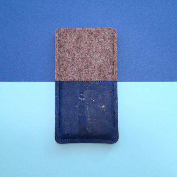 Handyhülle Kork blau