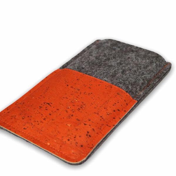 Handyhülle Kork orange